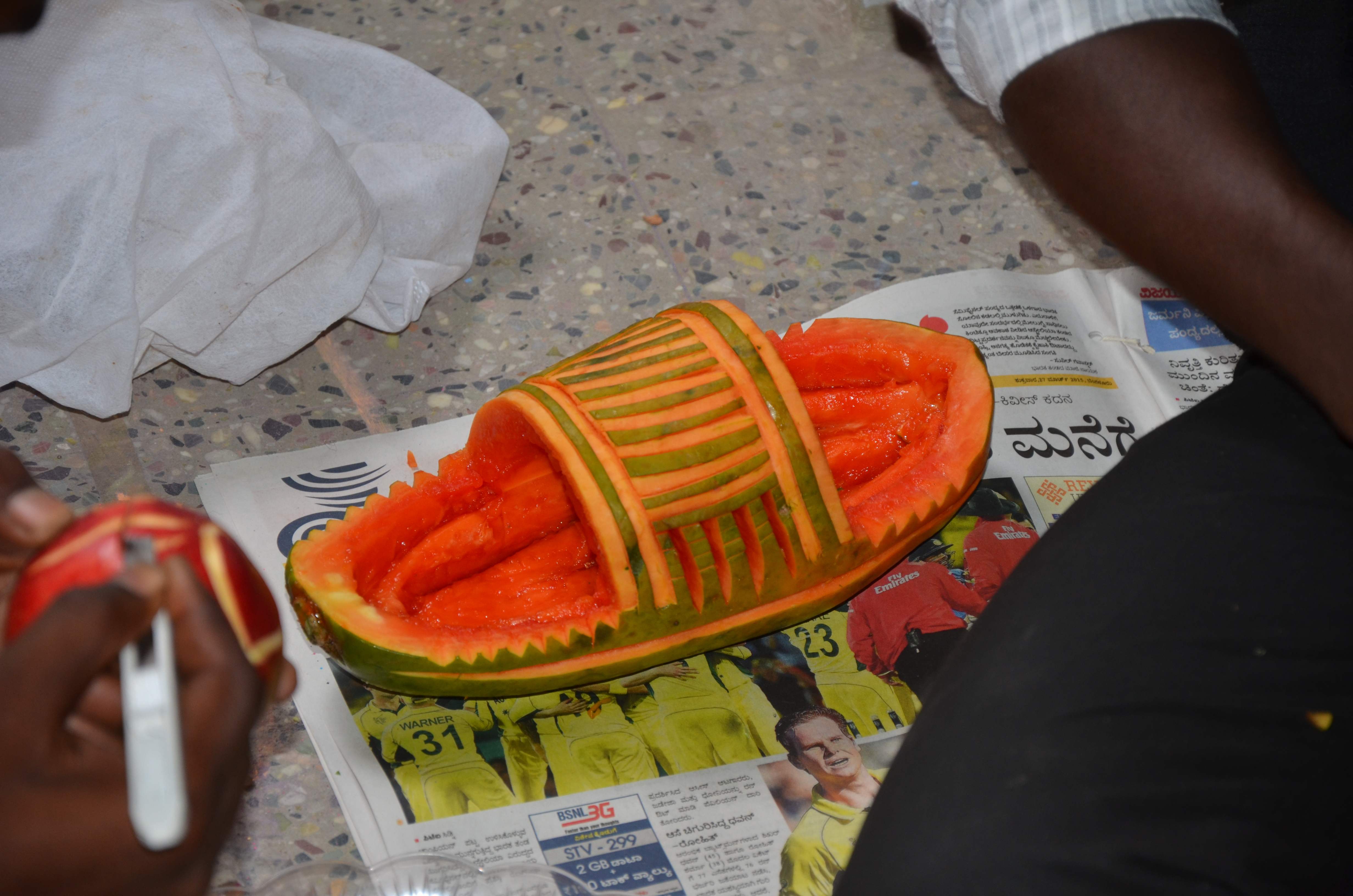 Vegetable carving for competition - Vegetable Carving Contest 2015 Sri Bhagawan Mahaveer Jain College Kgf