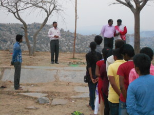 Addressing the NSS students